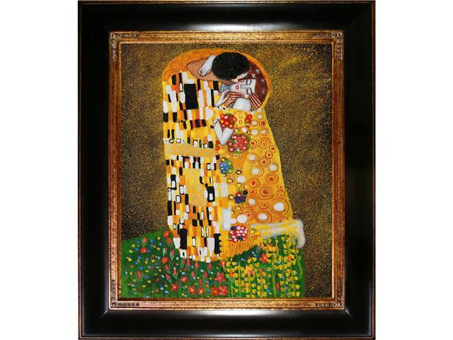 Klimt - The Kiss (Fullview) Oil Painting with Thick Opulent Frame