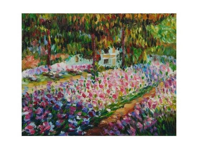Monet Paintings: Artist's Garden at Giverny - Hand Painted Canvas Art