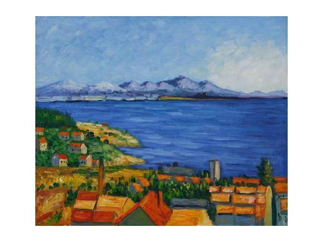 Cezanne Paintings: The Bay of Marseilles - Hand Painted Canvas Art