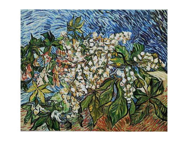 Van Gogh Paintings: Blossoming Chestnut Branches - Hand Painted Canvas Art