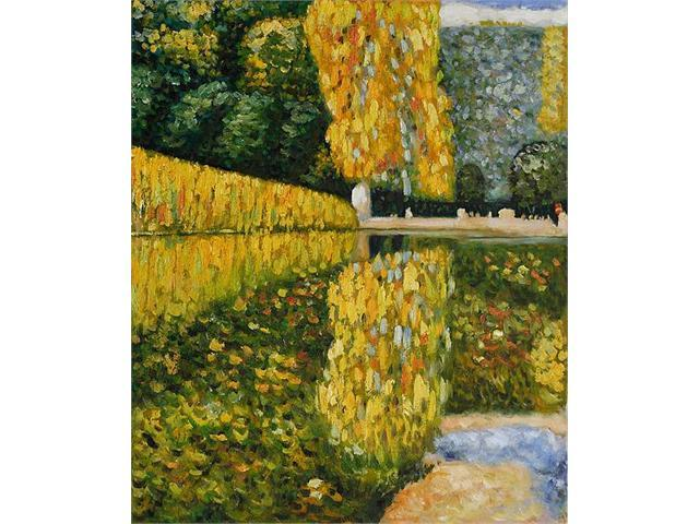 Klimt Paintings: Schonbrunn Park - Hand Painted Canvas Art