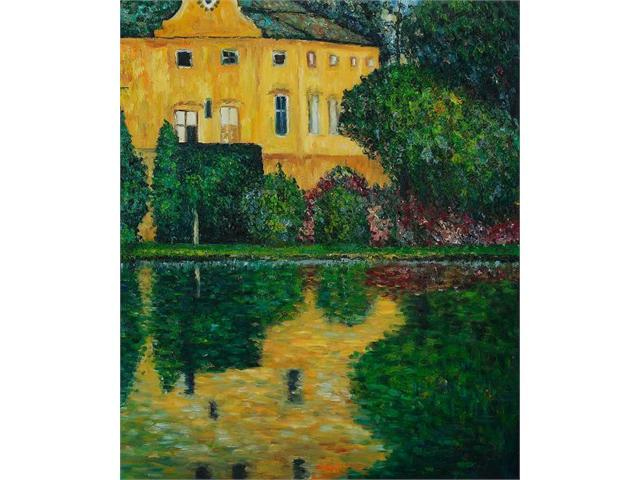 Klimt Paintings: Schloss Kammer on Attersee - Hand Painted Canvas Art