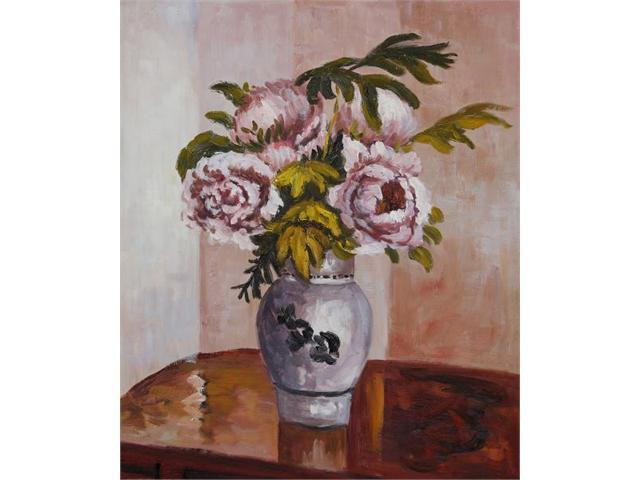 Bouquet of Pink Peonies - Hand Painted Canvas Art