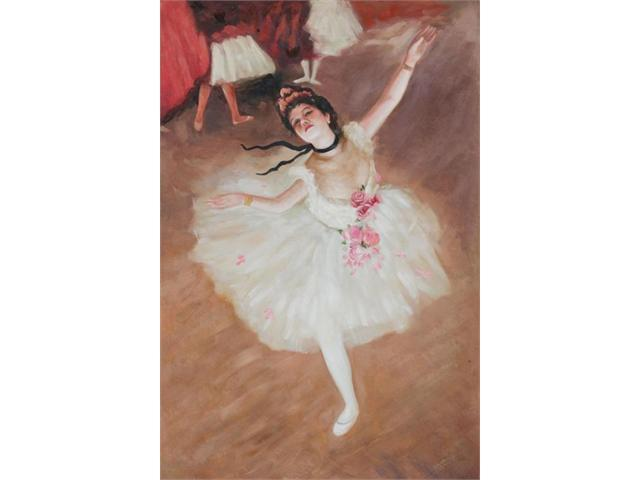 Degas Paintings: Star Dancer (On Stage) - Hand Painted Canvas Art