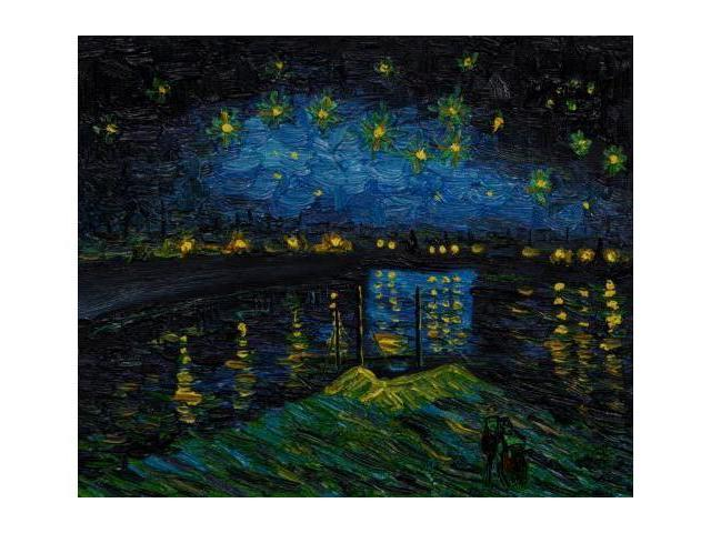Van Gogh Paintings: Starry Night Over The Rhone - Hand Painted Canvas Art