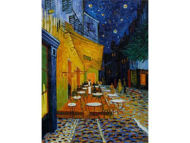 Van Gogh Paintings: Cafe Terrace at Night (Original Size) - Hand Painted Canvas Art