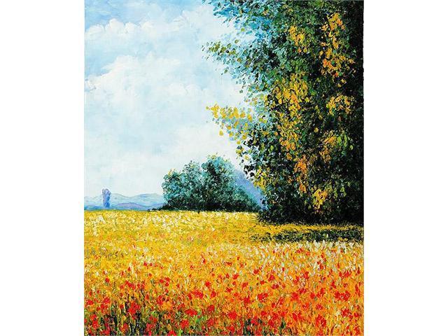 Monet Paintings: Champ d'avoine (Oat Field) - Hand Painted Canvas Art