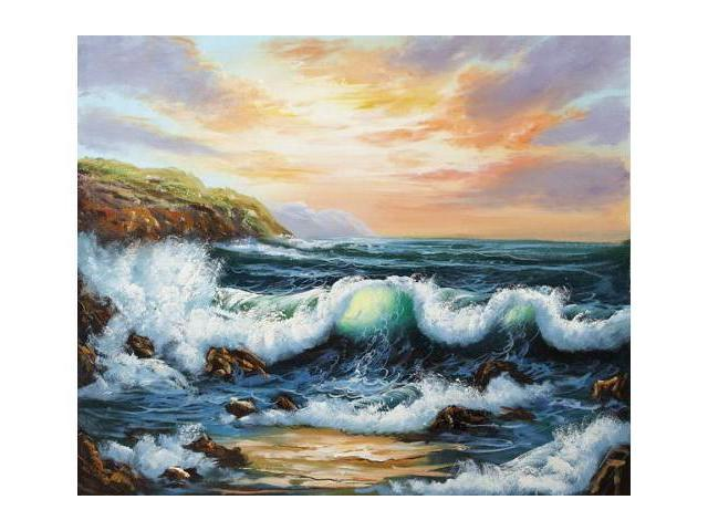 Seascapes: To The West - Hand Painted Canvas Art