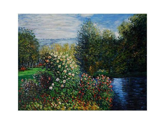 Monet Paintings: Corner of the Garden at Montgeron - Hand Painted Canvas Art