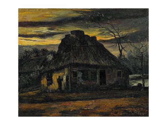 Van Gogh Paintings: The Cottage, 1885 - Hand Painted Canvas Art