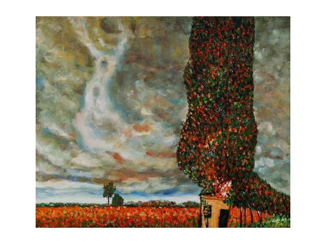 Klimt Paintings: High Poplar - Hand Painted Canvas Art