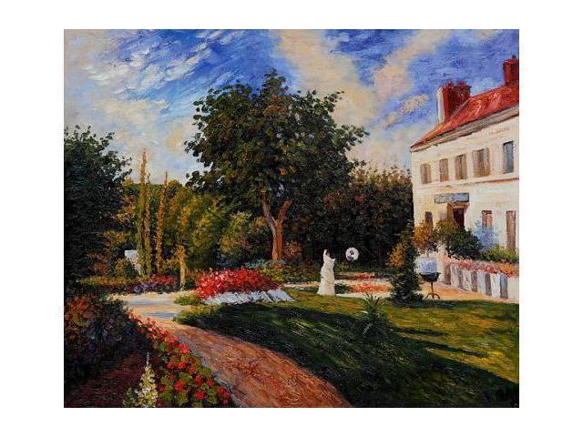 The Garden of Les Mathurins at Pontoise - Hand Painted Canvas Art