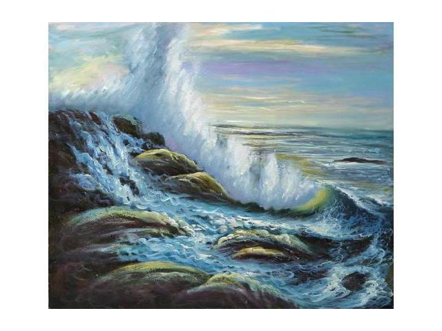 Seascapes: Raging Waters - Hand Painted Canvas Art