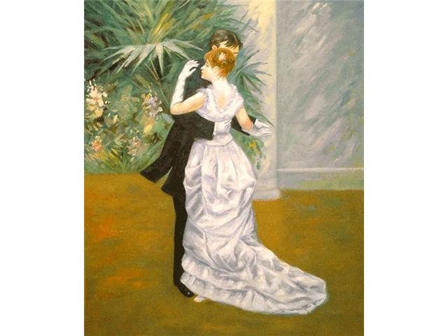 Renoir Paintings: Dance in The City - Hand Painted Canvas Art