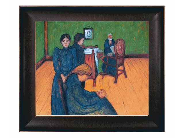 Death in the Sick Chamber with Veine D' Or Bronze Scoop - Bronze and Rich Brown Finish - Hand Painted Framed Canvas Art