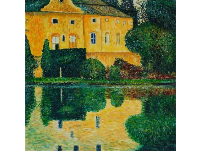 Schloss Kammer on Attersee - Hand Painted Canvas Art