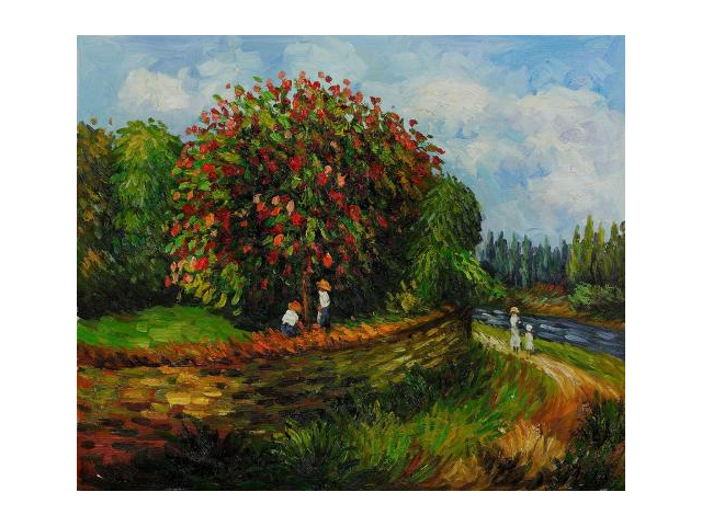 Renoir Paintings: Bluhender Kastanienbaum - Hand Painted Canvas Art