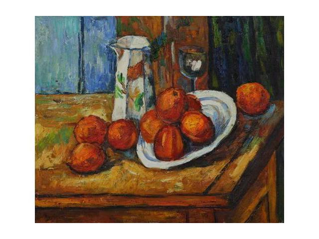 Cezanne Paintings: Bricoo, Bicchiere e Piato - Hand Painted Canvas Art