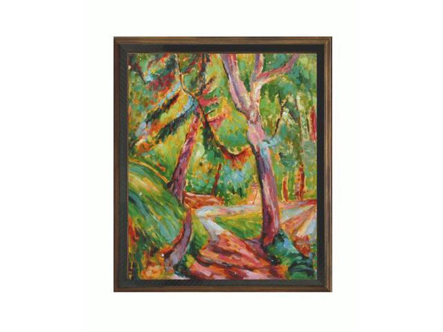 Art reproduction oil painting landscape with cottage oak for Framed reproduction oil paintings