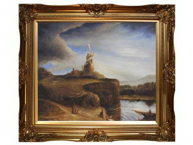 Art reproduction oil painting the mill with victorian for Framed reproduction oil paintings