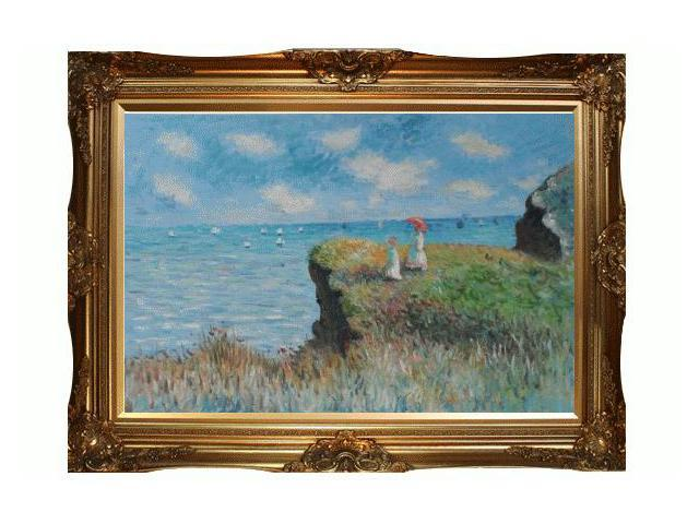 Art reproduction oil painting monet paintings cliff for Framed reproduction oil paintings