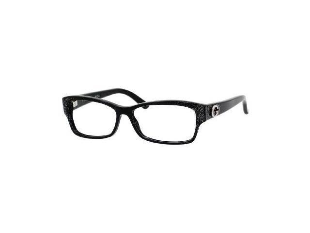 Gucci 3203 Eyeglasses-In Color-Black Glitter-Size-53/13/135