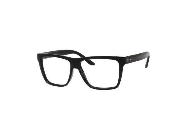 Gucci 1008 Eyeglasses-In Color-Shiny Black / Black (052R)-Size-55/14/150
