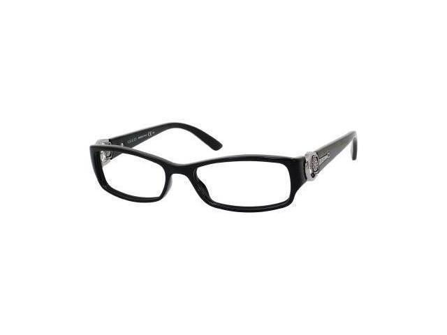 Gucci 3553 Eyeglasses-In Color-Shiny Black-Size-52/16/140