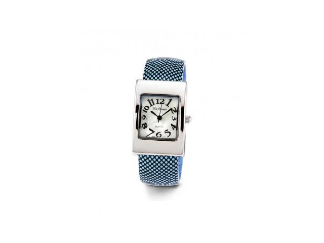 Ladies Adjustable Black Blue Band Quartz Bangle Watch