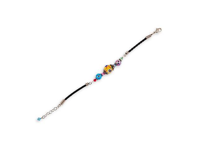 Black Blue Pink Yellow Red Glass Beads Stone Bracelet