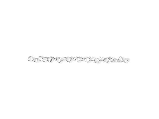 925 Sterling Silver Small Cut Out Heart Chain Bracelet