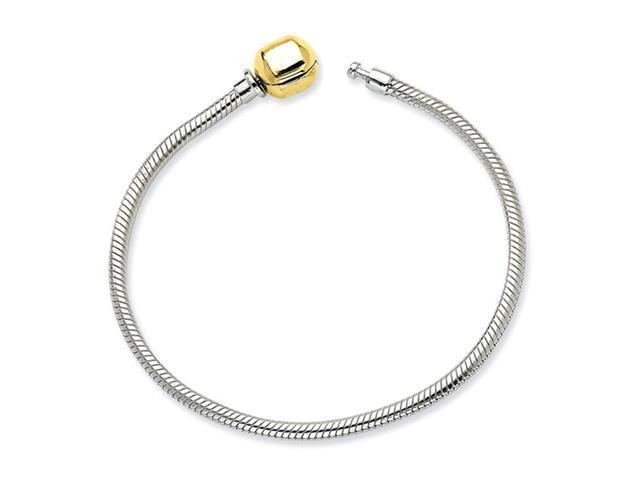 14k Yellow Gold 925 Sterling Silver Rope Coil Bracelet