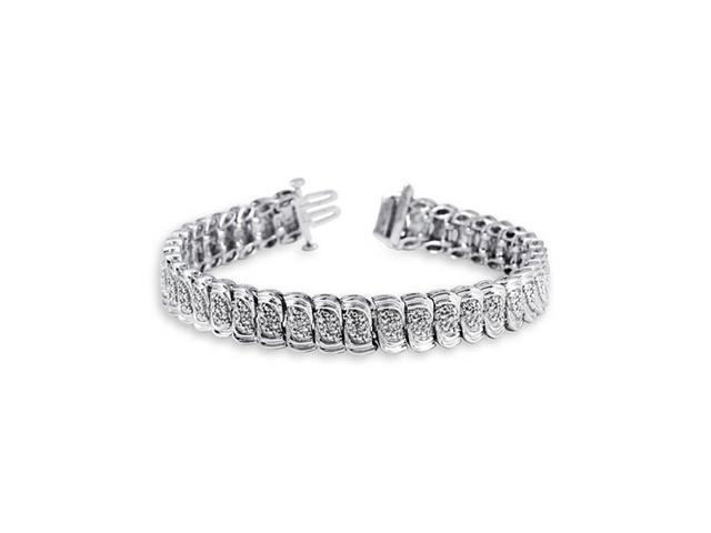 New Ladies 925 Sterling Silver Diamond Tennis Bracelet