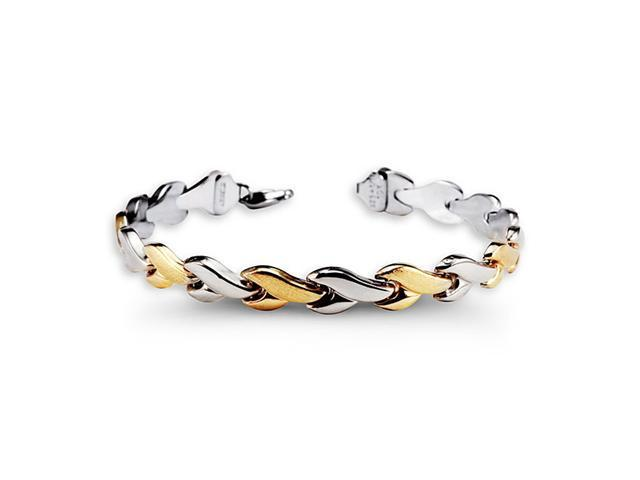 Fashion 10k Yellow Gold 925 Sterling Silver Bracelet