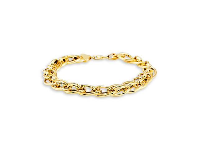 "14k Bonded Gold Ovals Links Chain Fashion 7"" Bracelet"