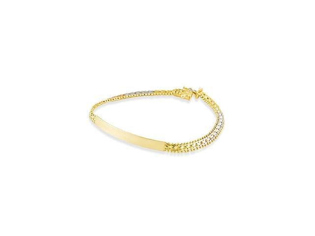 14k Rose White Yellow Gold Slim Engraveable ID Bracelet
