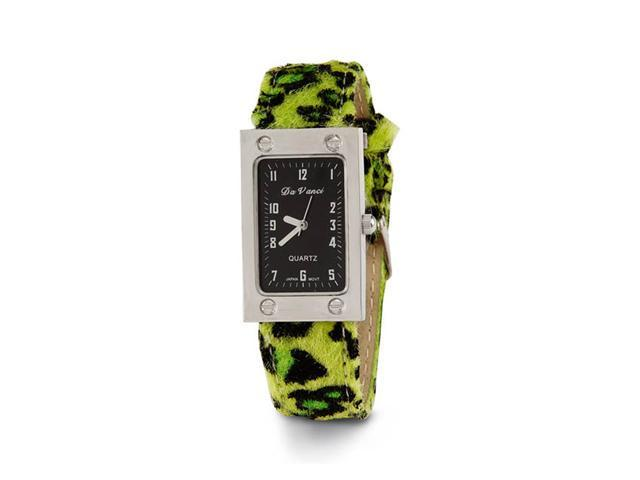 New Women's Green Black Animal Print Leather Watch