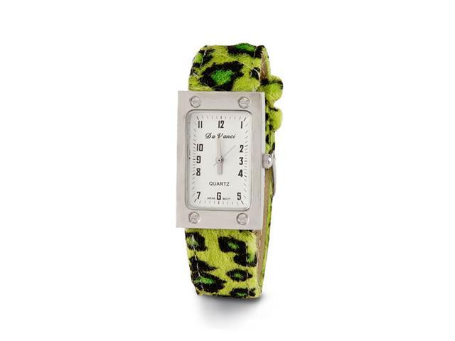 New Women's Green Animal Print Leather Wrist Watch