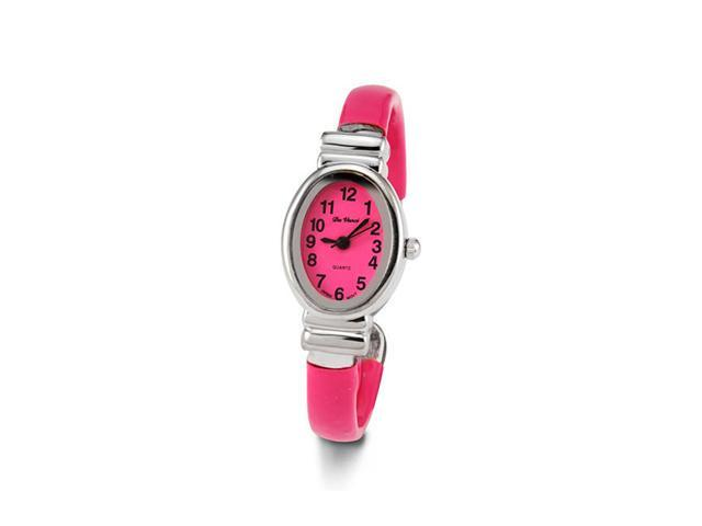 Women's Silver Tone Bracelet Quartz Fashion Pink Watch