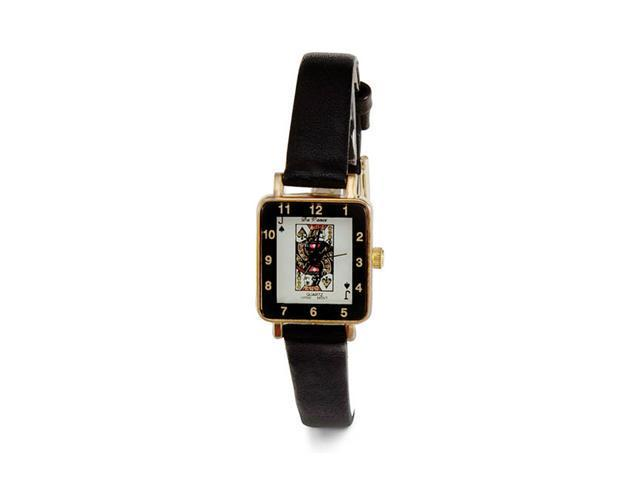 Womens Jack Spades Square Black Band Quartz Wrist Watch