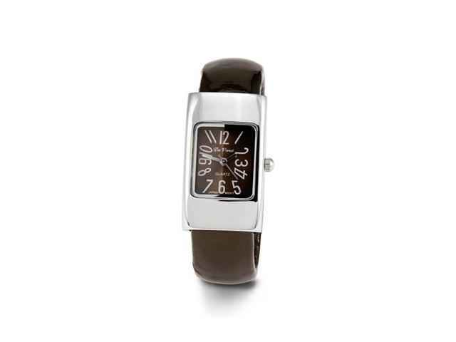 Ladies Brown Silver Tone Bracelet Quartz Wristwatch