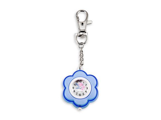 Lady Flower Pocket Backpack Blue White Quartz Watch