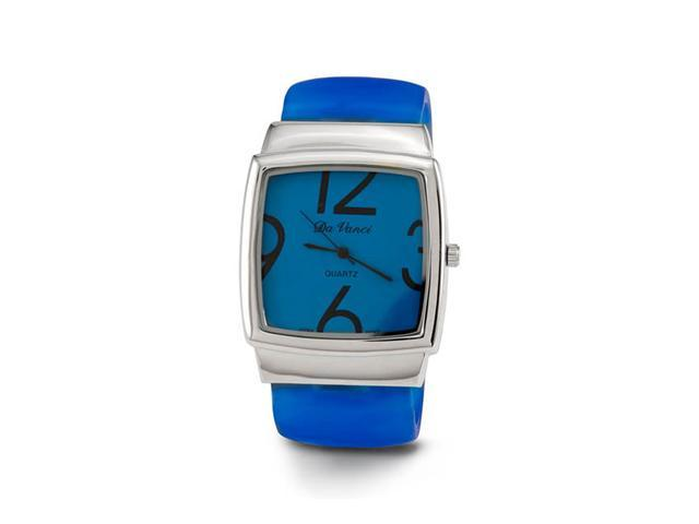 New Women's Blue Band Silver Tone Quartz Bangle Watch