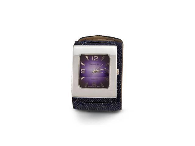 New Women's Blue Denim Leather Band Quartz Wrist Watch