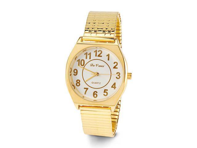Men's Gold Tone Adjustable Band Quartz Wristwatch