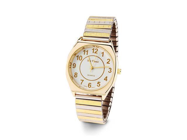 Men's Adjustable Gold Silver Tone Quartz Wristwatch