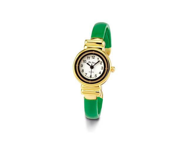 Women's Gold Tone Green Bracelet Quartz Fashion Watch