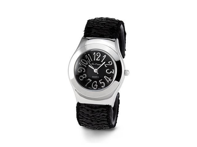Ladies Black Dial Silver Tone Quartz Women's Wristwatch