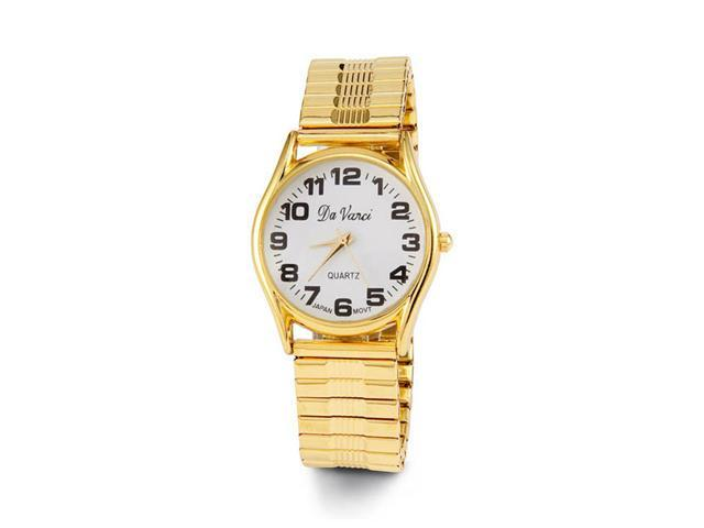 New Gold Tone Stretch Band Women's Bracelet Watch