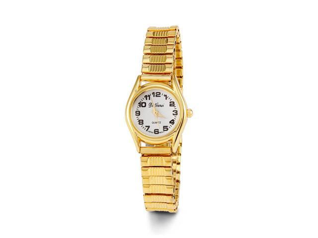 Women's Gold Tone Stretch Band Quartz Bracelet Watch